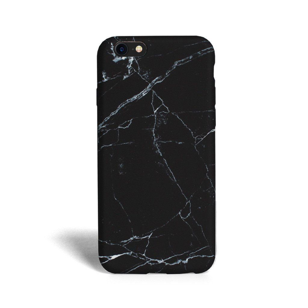 brand new 10e20 3f55f Matte Marble iPhone Case - Black