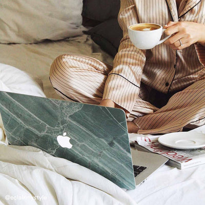 Mint Marble MacBook Case + Skin for Pro 15-inch (2009-2012)