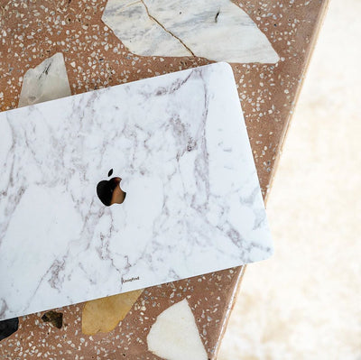 White Marble MacBook Case + Skin for Pro 13-inch (2020)