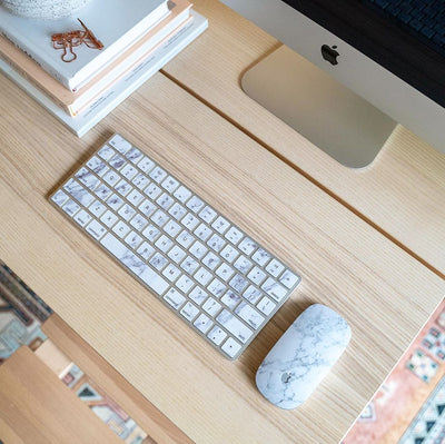 White Marble Magic Keyboard 2 Skin