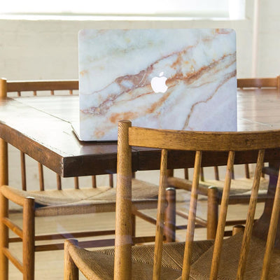 Vanilla Marble MacBook Case + Skin for Pro 16-inch