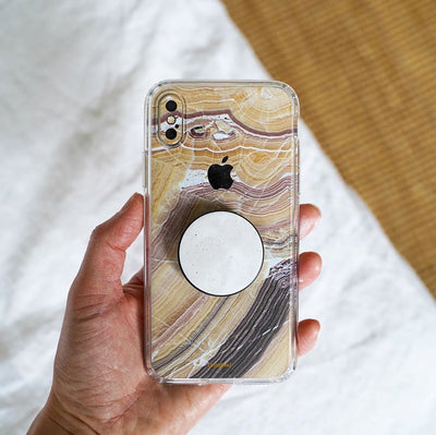 Butter Marble iPhone X Skin + Case