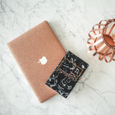 Rosé Glitter MacBook Case + Skin for 13-inch