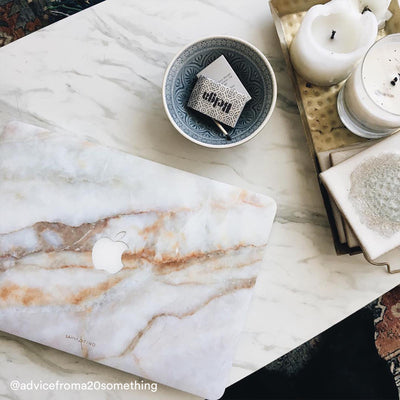 Vanilla Marble MacBook Case + Skin for 12-inch
