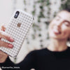 White Grid Line iPhone 7 Plus Skin + Case