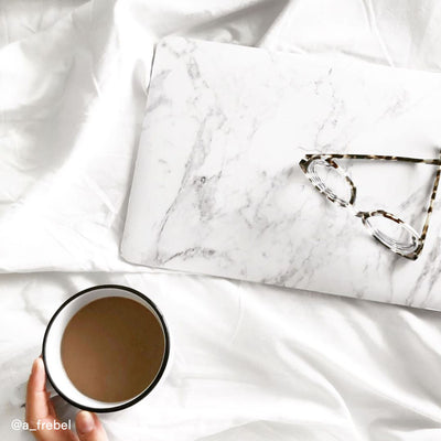 White Marble MacBook Case + Skin for 12-inch