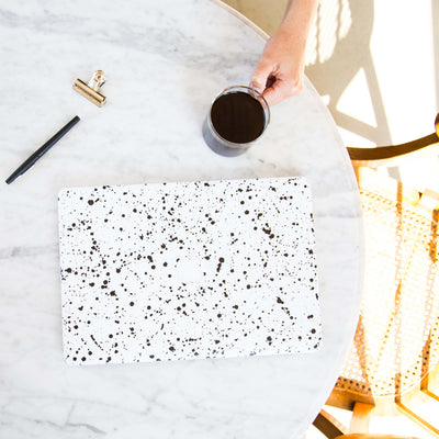 White Speckle MacBook Case + Skin for 13-inch