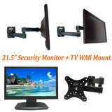 "[Package] 1080P 21.5"" Security Monitor 3D LED monitor HDMI VGA BNC inputs & BNC output + Wall Mount - 101AVInc."