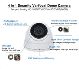 [Package] 8CH True-HD 5in1 TVI/CVI/AHD/CVBS DVR + 2MP 1080P 2.8-12mm Lens Varifocal In/Outdoor Dome Cameras(White) - 101AVInc.