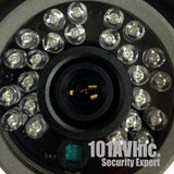 "1000TVL CCTV Outdoor Bullet Camera 1/3"" SONY 1.4 MP CMOS Sensor 3.6mm Wide Angle View WDR 24pcs Smart IR 65' IR Range Day Night - 101AVInc."
