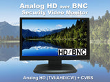 [NEW] 101AV 23.6 Inch Analog HD over BNC Connection, Perfect Monitor for application without DVR, Professional LED Security Monitor Directly Work with HD-TVI, AHD, CVI & CVBS Camera, 1x HDMI & 2X BNC Inputs for CCTV DVR Home Office Surveillance System - 101AVInc.