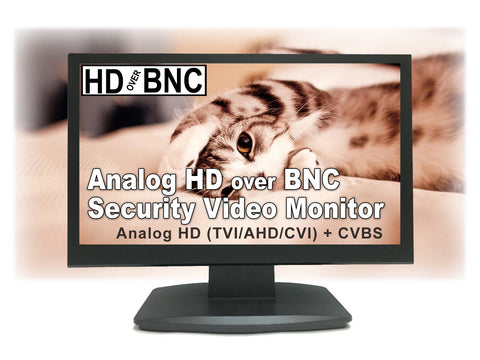 [NEW]101AV 19.5 Inch Analog HD over BNC Connector, Perfect Monitor for application without DVR, Professional LED Security Monitor Directly Work with HD-TVI, AHD, CVI & CVBS camera, 1x HDMI & 2X BNC Video Inputs for CCTV DVR Home Office Surveillance System - 101AVInc.