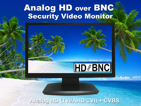 [NEW]101AV 21.5 Inch Analog HD over BNC Connector, Perfect Monitor for application without DVR, Professional LED Security Monitor Directly Work with HD-TVI, AHD, CVI & CVBS Camera, 1x HDMI & 2X BNC Video Inputs for CCTV DVR Home Office Surveillance System - 101AVInc.