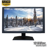 "101AV Security Monitor 19.5"" True Full HD 1080P 1920x1080 HDMI VGA BNC inputs and Looping BNC output - 101AVInc."