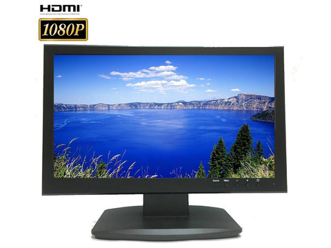 "101AV Security Monitor 19.5"" 3D comb filter 1080P 1920x1080 HDMI VGA BNC Inputs & loop BNC Output - 101AVInc."