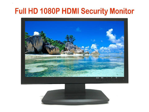 "Security Monitor 21.5"" 3D comb filter 1080P 1920x1080 HDMI VGA BNC Inputs & loop BNC Output - 101AVInc."