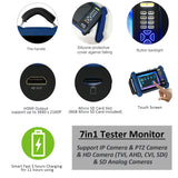 "[NEW] 7"" 7in1 Tester Monitor Support IP Camera, PTZ Camera, HD TVI, AHD, CVI, SDI Camera & SD Analog CVBS Camera, Support HDMI up to 3840×2160P (8MP) - 101AVInc."