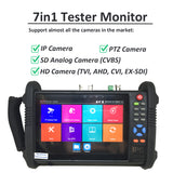 "[NEW] 7"" Professional 7in1 Tester Monitor Support IP Camera, PTZ Camera, HD TVI, AHD, CVI, SDI Camera & SD Analog CVBS Camera - 101AVInc."