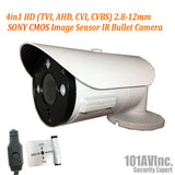 [Package] 8CH True-HD 5in1 TVI/CVI/AHD/CVBS DVR + 1080P 2.8-12mm Lens Varifocal In/Outdoor Bullet Cameras(White) - 101AVInc.