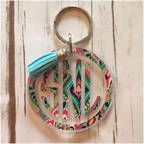 Patterned Keychain