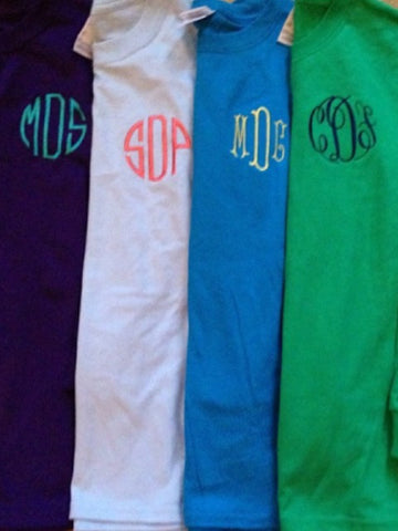 Youth Embroidered Monogram Item