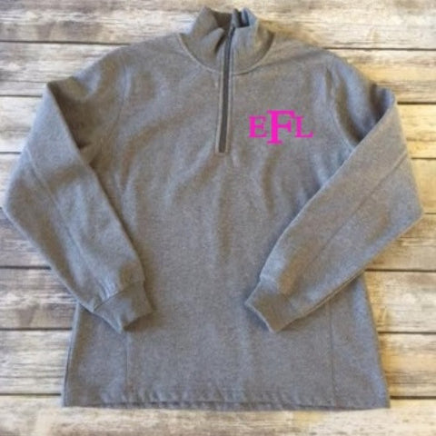 Monogram Bandless Quarter Zip