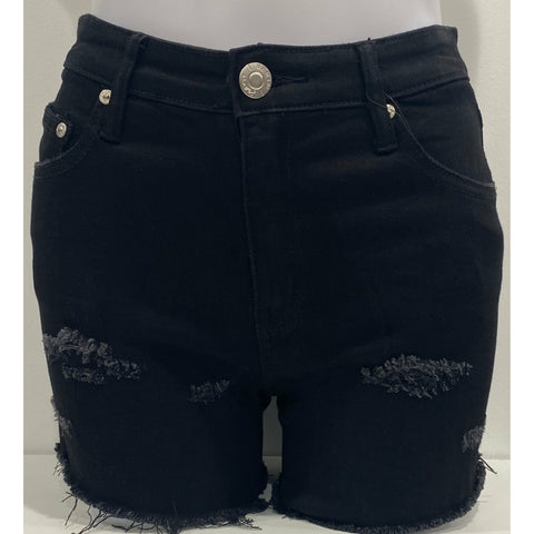 10155 Black Mid Thigh Short