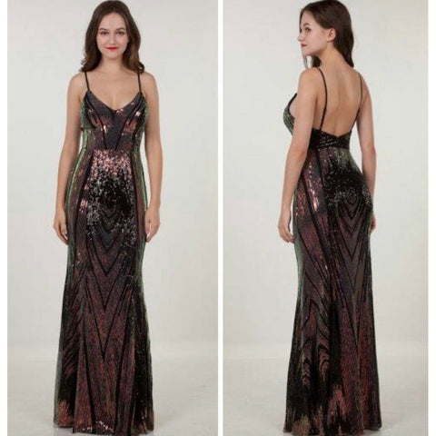 219473 Mermaid Gown Black