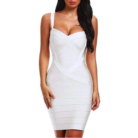636 Bandage Dress Mini White