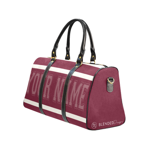 Personalized Travel Bag - Maroon