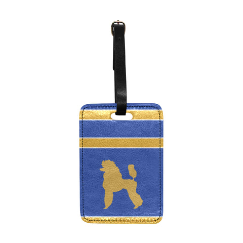 Pretty Poodle Inspired Luggage Tag
