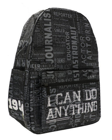 I Can Do Anything Professions Backpack - Black