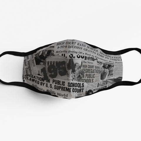 Masks adjustable In Support of African Americans Blacks integrating schools. Adjustable