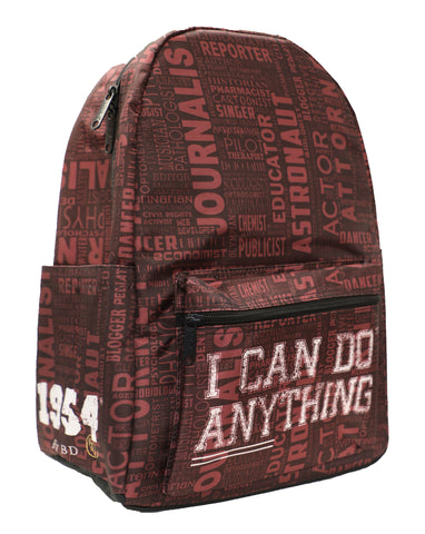 I Can Do Anything Professions Backpack - Maroon