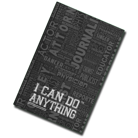 I Can Do Anything Professions Journal - Black