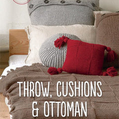 Patons Throw, Cushions & Ottoman - Hands Craft Store