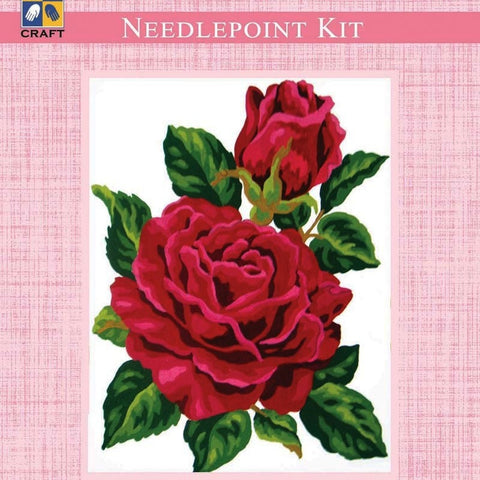 Needlepoint Kit - Rose - Hands Craft Store