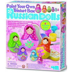 Paint Your Own Trinket Box Russian Dolls Kit - Hands Craft Store
