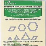 Clover Patchwork Templates Triangle/Hexagon - Hands Craft Store