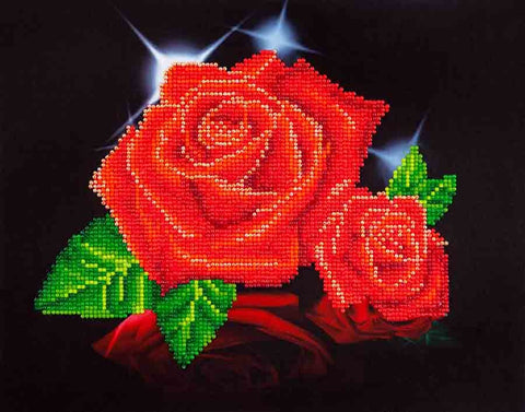 Diamond Dotz ~ Red Rose Sparkle - Hands Craft Store