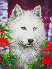 Diamond Dotz ~ White Wolf - Hands Craft Store