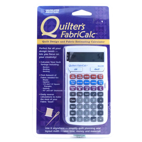 Quilter's FabriCalc Calculator - Hands Craft Store