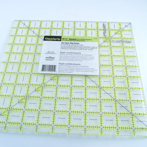 "Omnigrip Ruler 10 1/2"" Square - Hands Craft Store"