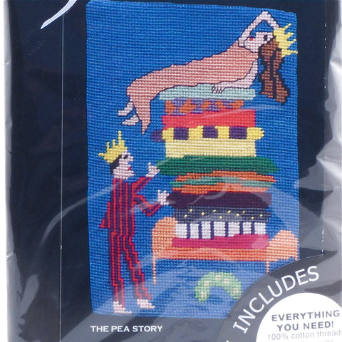 Jennifer Pudney Needlepoint Tapestry - The Pea Story - Hands Craft Store