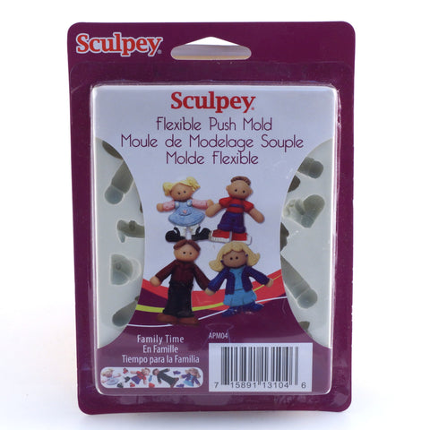 Sculpey Flexible Push Molds - Family Time - Hands Craft Store