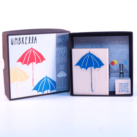 Umbrella Rubber Stamp Set - Hands Craft Store