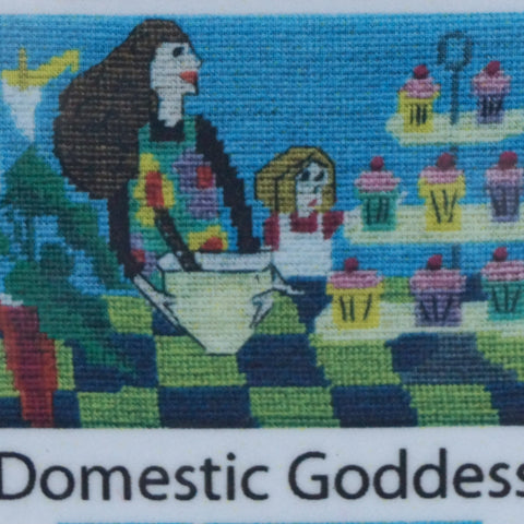 Jennifer Pudney Needlepoint Tapestry - Domestic Goddess in Training - Hands Craft Store