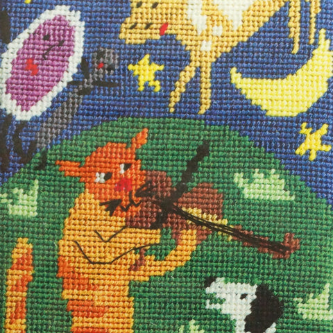 Jennifer Pudney Needlepoint Tapestry - Hey Diddle Diddle - Hands Craft Store