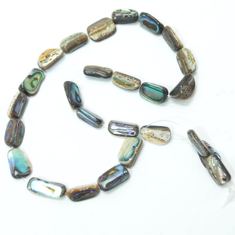 Paua Shell Rectangular Beads - Hands Craft Store