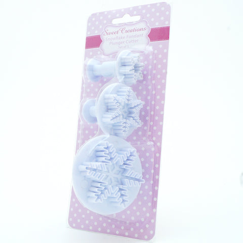Snowflake Fondant Plunger Cutter Set - Hands Craft Store